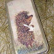 """Сумки и аксессуары ручной работы. Ярмарка Мастеров - ручная работа Чехол для iPhone """"Ежик в тумане"""". Handmade."""