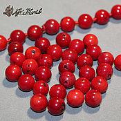 Материалы для творчества handmade. Livemaster - original item Red coral, round beads, 8-9mm. Handmade.