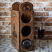 """Для дома и интерьера ручной работы. Ярмарка Мастеров - ручная работа Мини- бар """" Вкус Итальянского вина""""- массив ясеня. Handmade."""