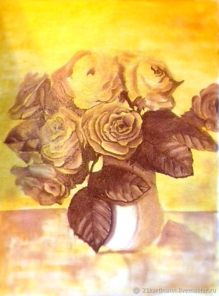 Oil Painting Roses In A Vase Shop Online On Livemaster With