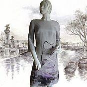 """Одежда ручной работы. Ярмарка Мастеров - ручная работа Платье из шелковой органзы """"Цветочный вальс"""". Handmade."""