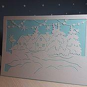 """Открытки ручной работы. Ярмарка Мастеров - ручная работа Открытка """"Зима"""". Handmade."""