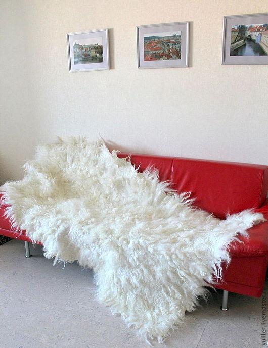 """Текстиль, ковры ручной работы. Ярмарка Мастеров - ручная работа. Купить Плед-ковер """"Английский белый"""". Handmade. Белый, покрывало"""