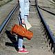 Женские сумки ручной работы. Ярмарка Мастеров - ручная работа. Купить Сумка дорожная из натуральной кожи. Handmade. Рыжий, для путешественника