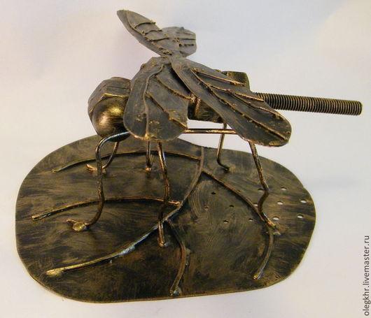 Миниатюрные модели ручной работы. Ярмарка Мастеров - ручная работа. Купить Стрекоза. Handmade. Комар из гаек, стрекоза из гаек, гайки