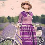 Одежда ручной работы. Ярмарка Мастеров - ручная работа Платье удлинённое с воротничком. Handmade.