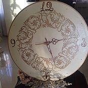 Для дома и интерьера ручной работы. Ярмарка Мастеров - ручная работа настенные часы Вальс Франзузская Ваниль большие. Handmade.