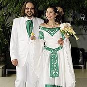 Свадебный салон ручной работы. Ярмарка Мастеров - ручная работа Свадебное платье в эльфийском стиле. Handmade.