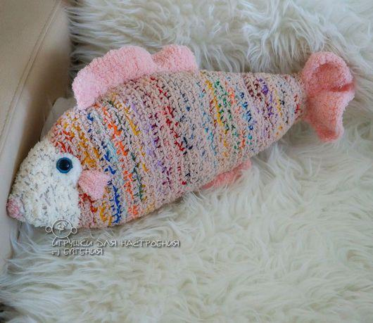 Текстиль, ковры ручной работы. Ярмарка Мастеров - ручная работа. Купить Рыба-подушка интерьерная. Handmade. Купить подушку