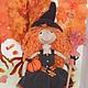 """Куклы тыквоголовки ручной работы. Ярмарка Мастеров - ручная работа. Купить Коллекционная куколка """"Хеллоуин"""". Handmade. Рыжий, коллекционная кукла"""