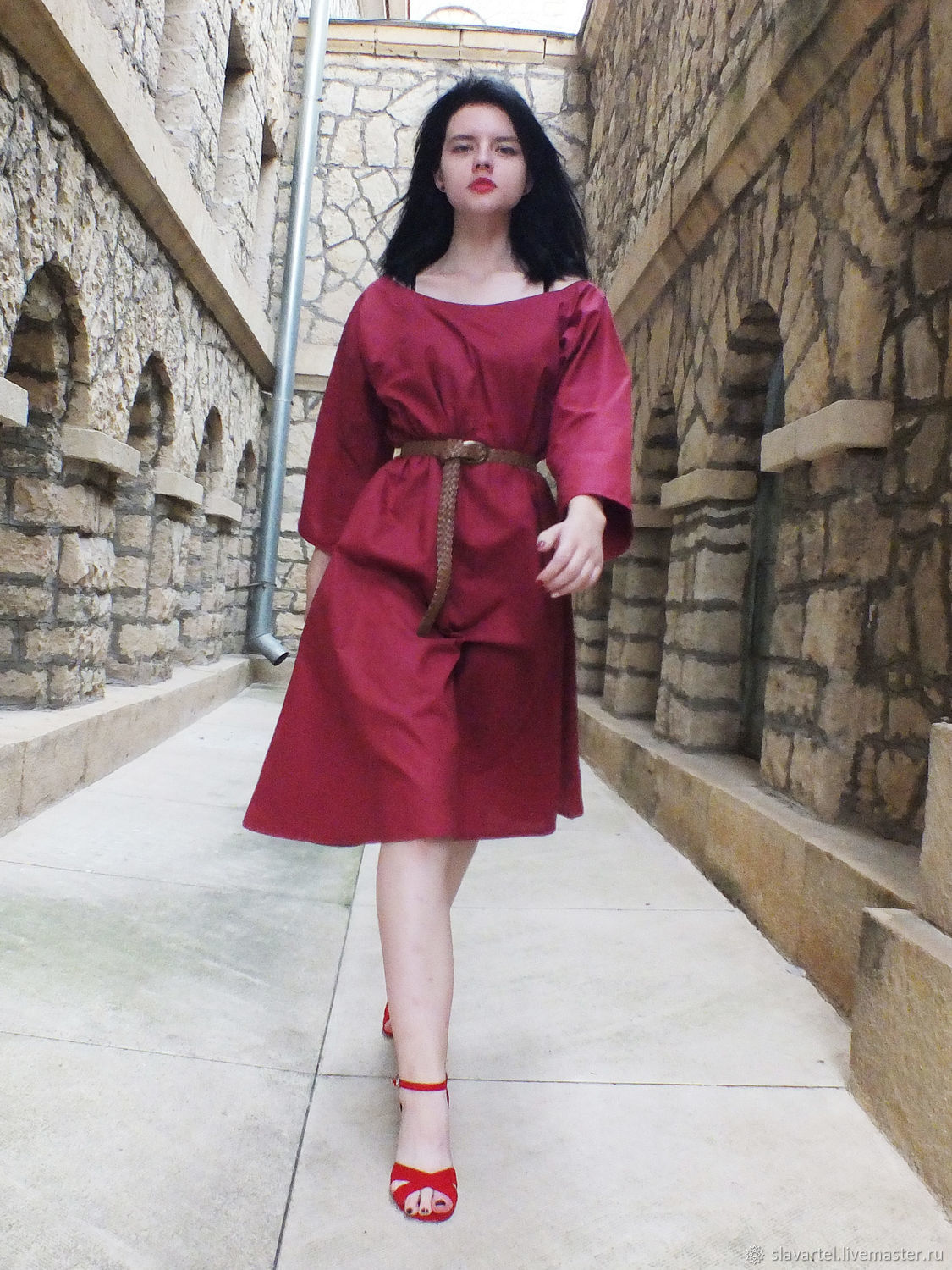The Dress Is A Burgundy Heart Of Gerda, Dresses, Pyatigorsk,  Фото №1