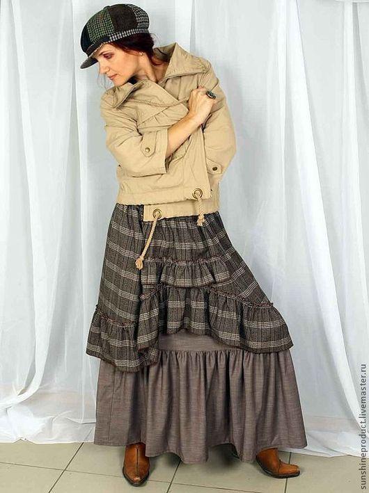 """Юбки ручной работы. Ярмарка Мастеров - ручная работа. Купить Юбка """"Богемная осень"""". Handmade. Осень, теплая юбка, бохо"""