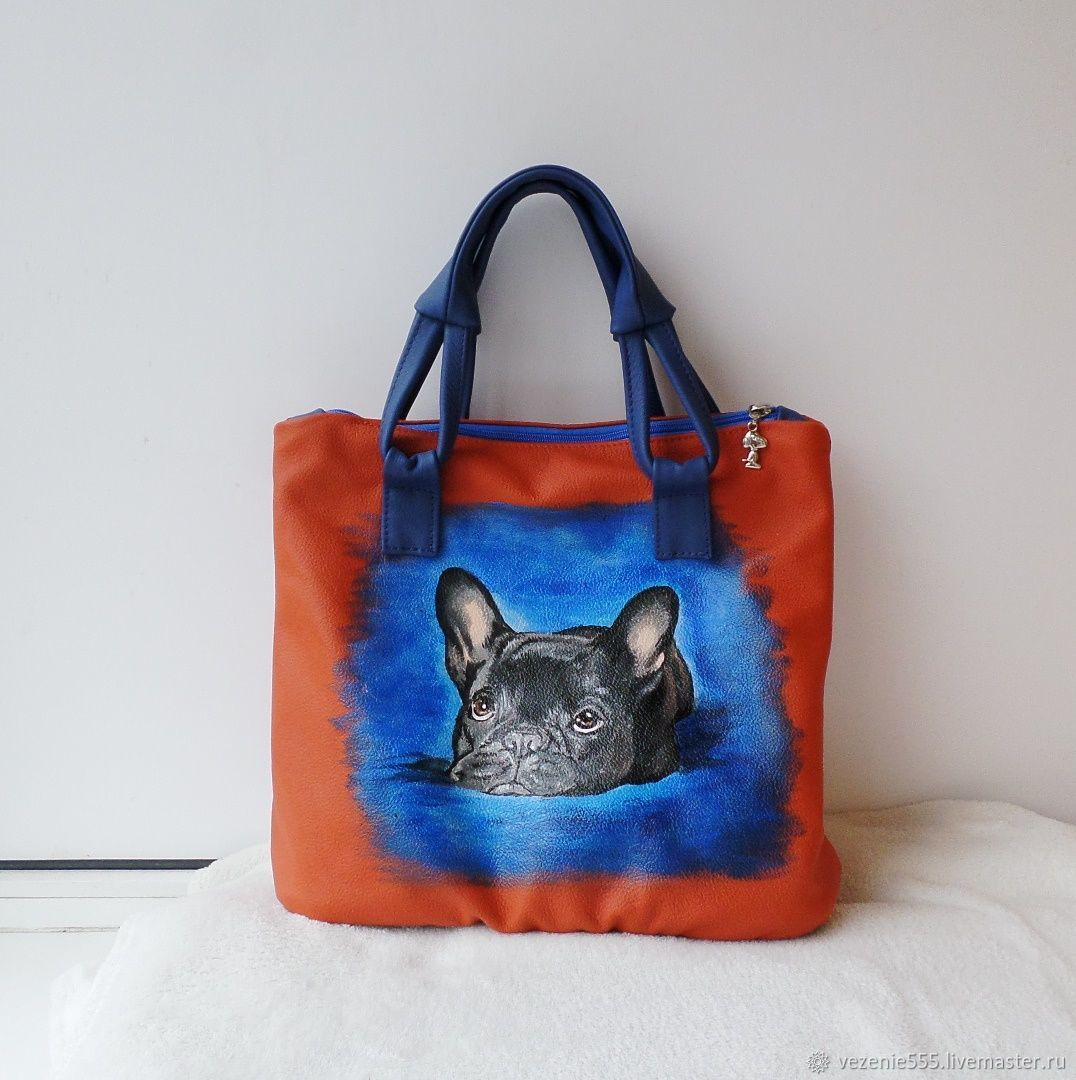 Women's leather bag with painted to order for Larisa, Classic Bag, Noginsk,  Фото №1