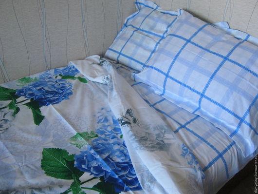 """Текстиль, ковры ручной работы. Ярмарка Мастеров - ручная работа. Купить СКИДКА! 1,5-спальный комплект """"Гортензии"""". Handmade."""