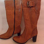 Винтаж handmade. Livemaster - original item Womens boots on graceful legs,leather,vintage Italy,size 36. Handmade.