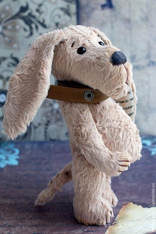 Мишки Тедди ручной работы. Ярмарка Мастеров - ручная работа. Купить Тедди собака Песинька. Handmade. Бежевый, вискоза