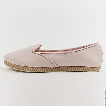 Обувь ручной работы. Ярмарка Мастеров - ручная работа Туфли летние цвета пудры. Handmade.