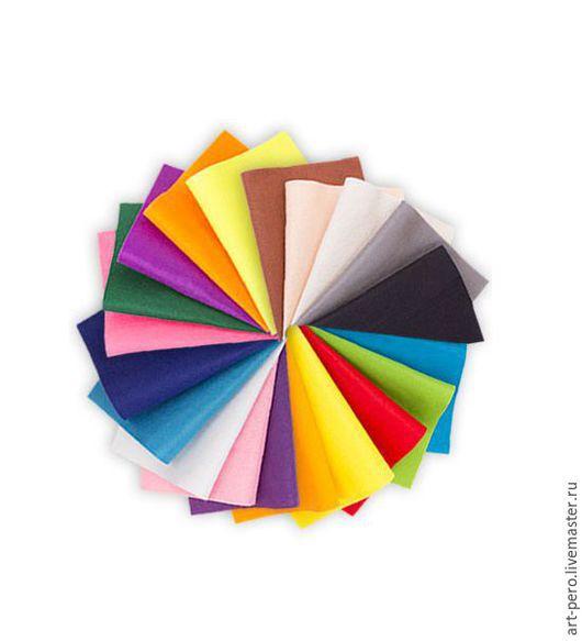 Валяние ручной работы. Ярмарка Мастеров - ручная работа. Купить Фетр листовой 20х30 см., разные цвета. Handmade. Шерсть
