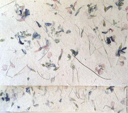 """Картины цветов ручной работы. Ярмарка Мастеров - ручная работа. Купить """"Корзина с цветочками"""" бумага ручной работы. Handmade. Комбинированный"""