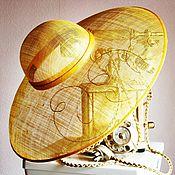 Аксессуары ручной работы. Ярмарка Мастеров - ручная работа Шляпа соломенная с вышивкой. Handmade.