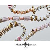 Украшения handmade. Livemaster - original item Marbella Rose Beads. Handmade.