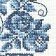 """Картины цветов ручной работы. Вышивка крестом """"Гжель"""". Ольга (cross-yes). Интернет-магазин Ярмарка Мастеров. Вышивка"""