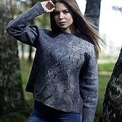 Одежда handmade. Livemaster - original item Felted sweatshirt