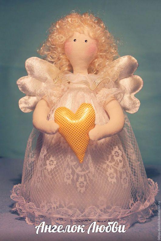 Куклы Тильды ручной работы. Ярмарка Мастеров - ручная работа. Купить Кукла Ангел-хранитель ,Ангелок Любви. Handmade. Белый