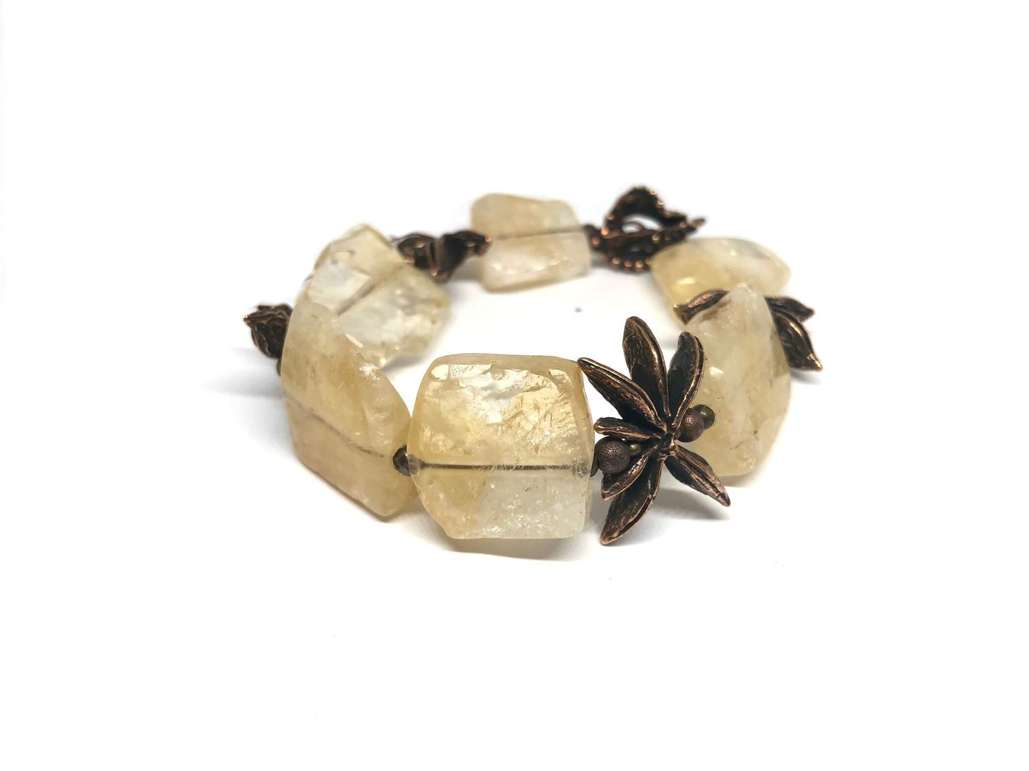Bracelet made of natural stones.. Citrine, accessories Anna Black, Bead bracelet, Moscow,  Фото №1