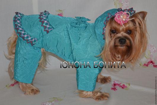 """Одежда для собак, ручной работы. Ярмарка Мастеров - ручная работа. Купить Комбинезон-пальто """"Лакшми"""". Handmade. Одежда для собак, йорк"""