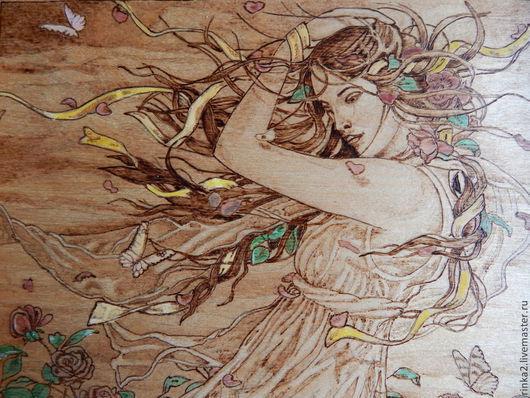"""Фэнтези ручной работы. Ярмарка Мастеров - ручная работа. Купить Картина """"Цветочная фантазия"""". Handmade. Коричневый, цветы, картина с бабочками"""