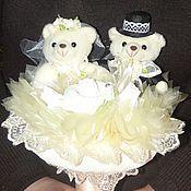 """Свадебный салон ручной работы. Ярмарка Мастеров - ручная работа Букет из игрушек """"Свадебные мишки"""". Handmade."""