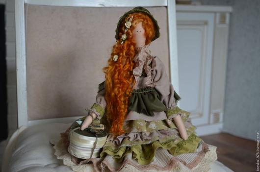Куклы Тильды ручной работы. Ярмарка Мастеров - ручная работа. Купить Рыжеволосая красавица Энн. Handmade. Тёмно-зелёный
