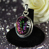 Украшения handmade. Livemaster - original item Pendant pendant with mystic Topaz
