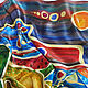 Batik, silk handkerchief ' Full bowl». Shawls1. Rudnitskaya Irina. My Livemaster. Фото №5