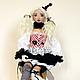 Коллекционные куклы ручной работы. Ярмарка Мастеров - ручная работа. Купить Клоунесса Иоланта, авторская текстильная кукла, шарнирная, цирк, ООАК. Handmade.