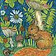 Животные ручной работы. Ярмарка Мастеров - ручная работа. Купить Принт Маленький бельчонок в лесу. Авторская картина для интерьера. Handmade.