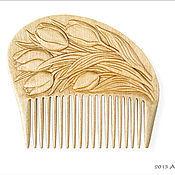 """Сувениры и подарки ручной работы. Ярмарка Мастеров - ручная работа Гребень для волос деревянный """"Lale"""". Handmade."""