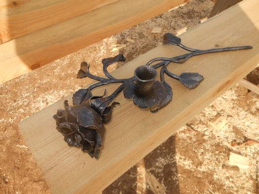 Подсвечники ручной работы. Ярмарка Мастеров - ручная работа. Купить кованая роза. Handmade. Кованые изделия, подарок женщине, Ковка