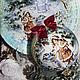 Новый год 2017 ручной работы. Ярмарка Мастеров - ручная работа. Купить Комплект Зимняя тарелочка + большой шар (ПРОДАНО). Handmade.