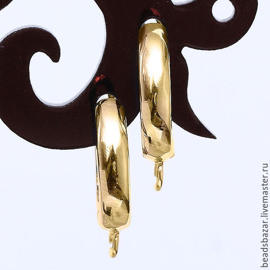 Для украшений ручной работы. Ярмарка Мастеров - ручная работа. Купить Швензы на английском замке, золото.. Handmade. Золотой