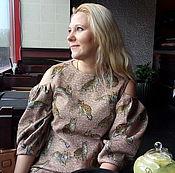 Одежда ручной работы. Ярмарка Мастеров - ручная работа Платье с кошками из жаккарда Dolce Gabbana. Handmade.
