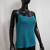 Одежда handmade. Livemaster - original item Knitted silk top with cashmere. Handmade.
