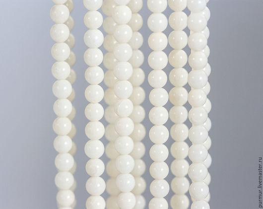 Для украшений ручной работы. Ярмарка Мастеров - ручная работа. Купить 1537_Белый коралл, Круглые бусины, Айвори, Натуральный коралл, Бусины. Handmade.