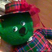 Куклы и игрушки handmade. Livemaster - original item Bear in a hat with bow. Handmade.