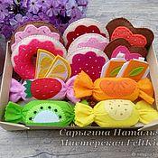 Куклы и игрушки ручной работы. Ярмарка Мастеров - ручная работа Набор сладостей для Чаепития из фетра. Handmade.