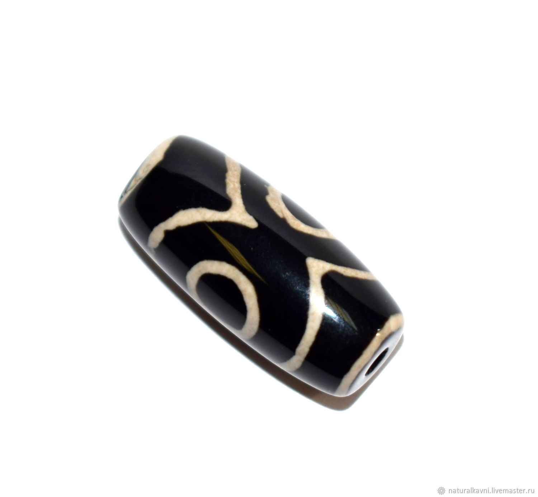 Talisman amulet. Tibetan Dzi bead 3 eyes, Ji bead, Moscow,  Фото №1