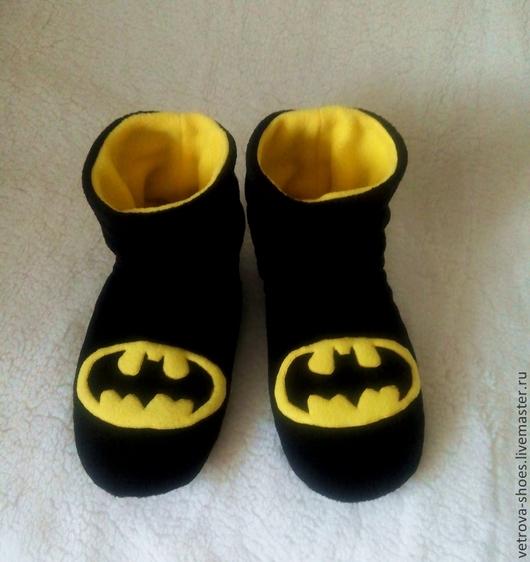 """Обувь ручной работы. Ярмарка Мастеров - ручная работа. Купить Мужские угги """"Бэтмен"""". Handmade. Черный, бэтмен, мужской подарок"""