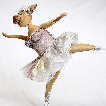Куклы и игрушки ручной работы. Ярмарка Мастеров - ручная работа Свинья балерина.. Handmade.