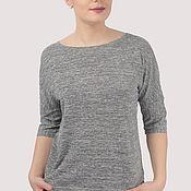 Одежда handmade. Livemaster - original item T-shirt viscose thin gray melange. Handmade.